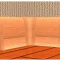 Угол внутренний для плинтуса ПВХ VOX Smart Flex (в цвет плинтуса)